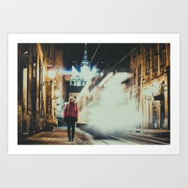 Time and Girl Art Print