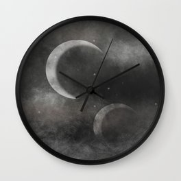 Two Moons Wall Clock