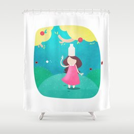 The Milkmaid and the Pot of Milk Shower Curtain