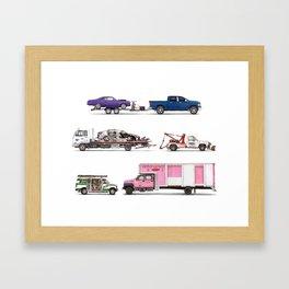 Trucks & Tows Framed Art Print