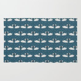 Swans love sparkles // winter sun Rug