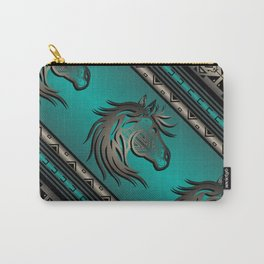 Horse Nation (Aqua) Carry-All Pouch