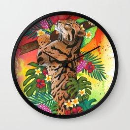 Rainbow Jaguar Wall Clock