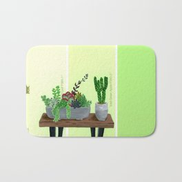 Cacti and Succulents on Greens Bath Mat