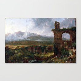 Thomas Cole A View Near Tivoli Canvas Print