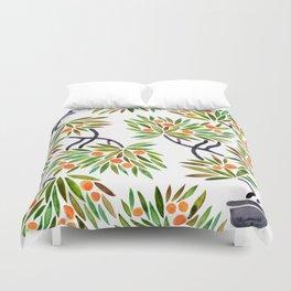 Bonsai Tree – Orange Fruit Duvet Cover