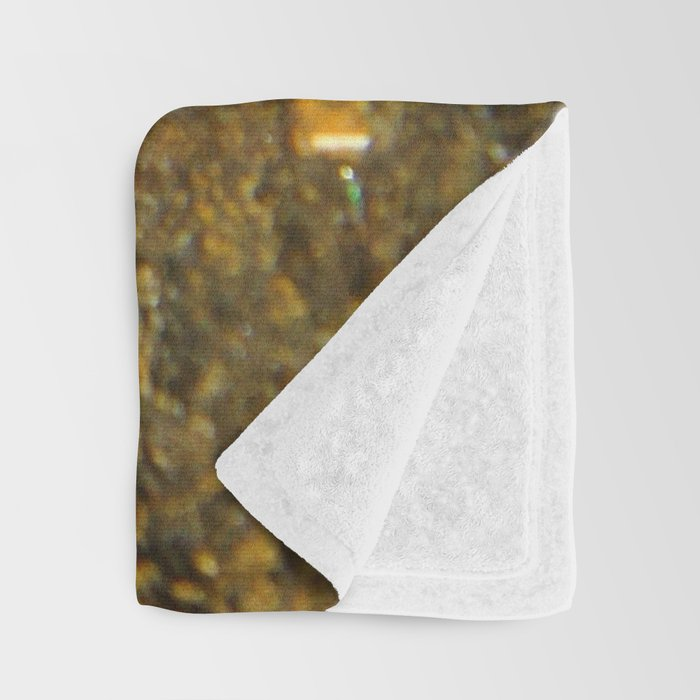 Shimmery Blue & Purple Opal Encrusted in Gold Throw Blanket