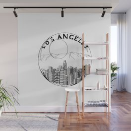 Los Angeles in a glass ball 2  ( https://society6.com/vickonskey/collection ) Wall Mural