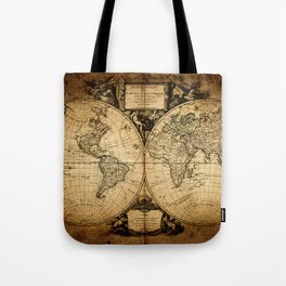World Map 1752 Tote Bag