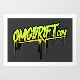 OMGDrift Logo  Art Print