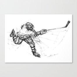 The Slap Shot (The Art of Athletes™) Canvas Print