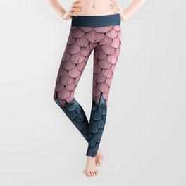 SHELTER / rose and light blue Leggings