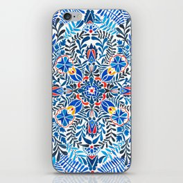 Blue-red mandala iPhone Skin
