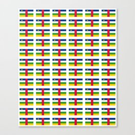 Flag of Central African Republic,car, Bêafrîka,centrafrique,Central African, centrafricain,Oubangui- Canvas Print