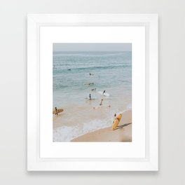 lets surf iii Framed Art Print