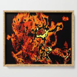 flame abstract Serving Tray