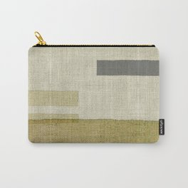 """Burlap Texture Natural Shades"" Carry-All Pouch"