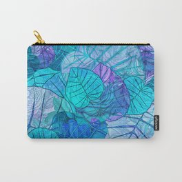 Leaves in Rosy Background 3 Carry-All Pouch
