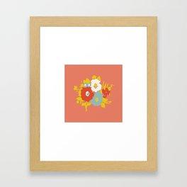 Coral Flora Framed Art Print