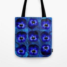 Deep Blue Velvet Tote Bag