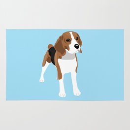 Beagle - Blue Rug