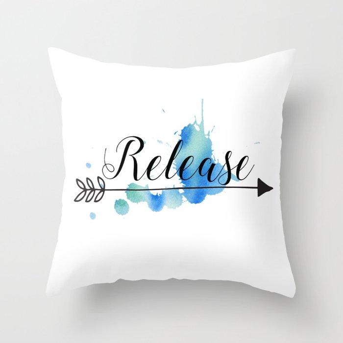 Release Throw Pillow