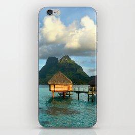 Bora Bora Tahiti Bungalow iPhone Skin