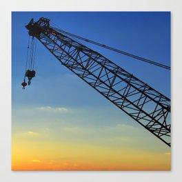 Sunset Construction Crane Canvas Print