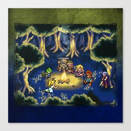 Chrono Trigger Camping Scene Canvas Print