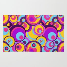 Retro Circles Groovy Colors Rug