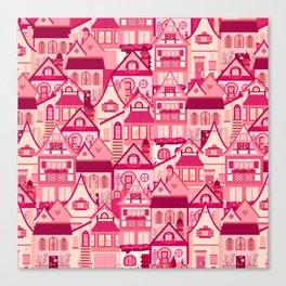 Pink Little Town Canvas Print