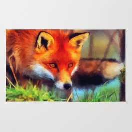 Watercolor Fox Rug