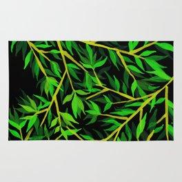 Green leafs Rug