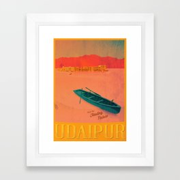 Vintage Travel Poster - Upaipur / India Framed Art Print