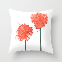 2 abstract geranium flowers Throw Pillow