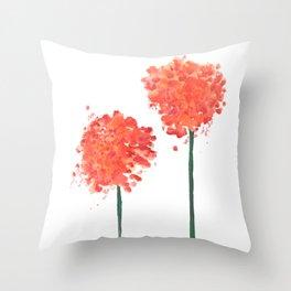 2 abstract geranium flowers Throw Pillow