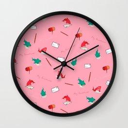 Pink Shark and Whale Shark Wall Clock