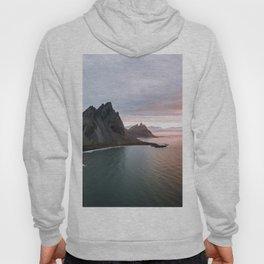Iceland Mountain Beach Sunrise - Landscape Photography Hoody