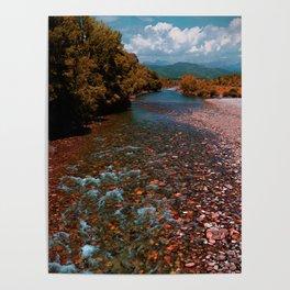 Autumn mountain river #photography #landscape Poster