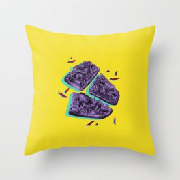 Favourite Food - Yellow by Chrissy Curtin Throw Pillow