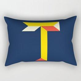 """Letter """"T"""" Rectangular Pillow"""