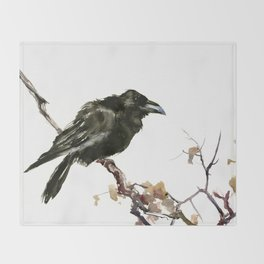 Raven Throw Blanket