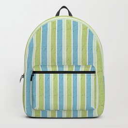 Simple blue, green stripes. Backpack