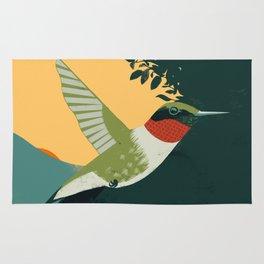 Ruby-Throated Hummingbird Rug