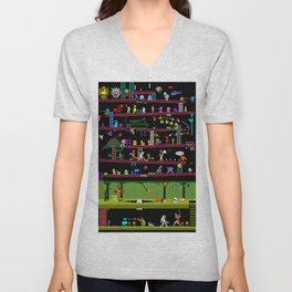 50 Classic Video Games Unisex V-Neck