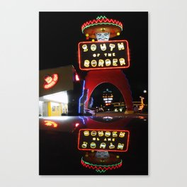 South of the Border: Reflections Canvas Print