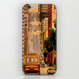 San Francisco Van Ness Cable Car iPhone Skin