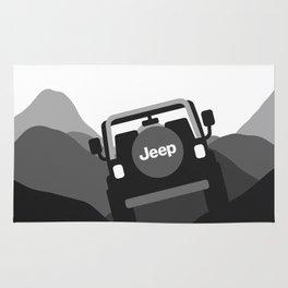 Jeep 'Driving' Black Rug