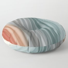Pretty Pastel Bands Floor Pillow