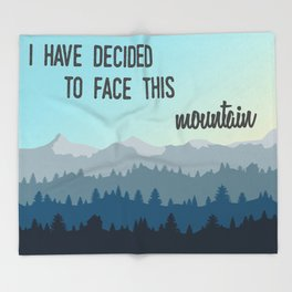 Face This Mountain (Jon Foreman Lyrics Illustration) Throw Blanket